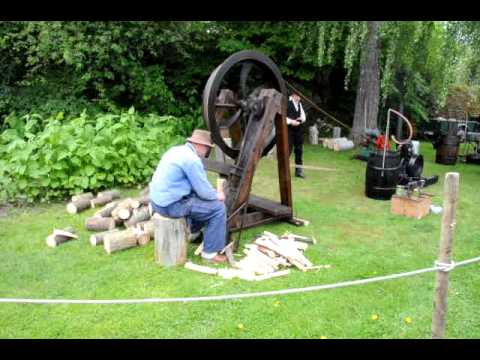 Old wood splitting machine.