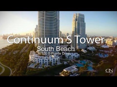Continuum South Beach Condos -  South Tower -  100 S Pointe Drive Miami Beach 33139