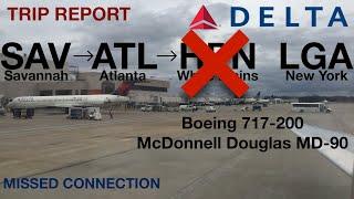 Delta Airlines (DL1620 + DL1946) I SAV-ATL-LGA I Comfort+ + Ec...