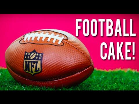 How To Make A FOOTBALL CAKE! Chocolate Cake & Italian Meringue Buttercream for the NFL Kickoff!