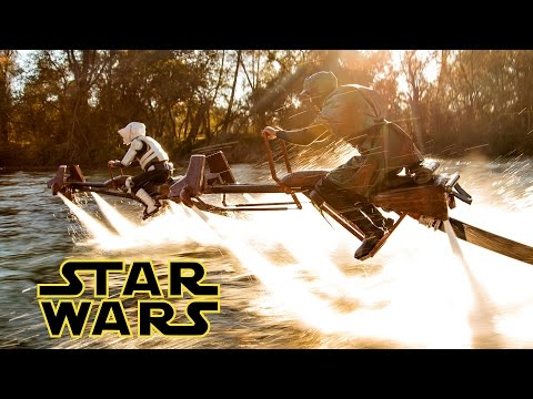 Star Wars Speeder Bike Battle in Real Life