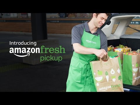 Introducing AmazonFresh Pickup: Groceries delivered to your trunk (видео)