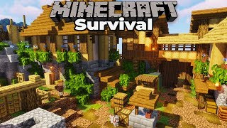 Custom Plains Village ALMOST DONE : Minecraft 1.14 Survival Let's Play : Building with fWhip