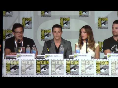 Arrow CW - http://www.thegreenarrow.net | The cast and creators of 'Arrow' talk about what's to come in Season 2 at Comic Con 2013.
