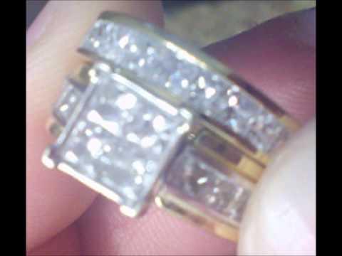 ONLY $600 on EBAY!!! 3.0ct. tw Princess cut diamond engagement ring/wedding set