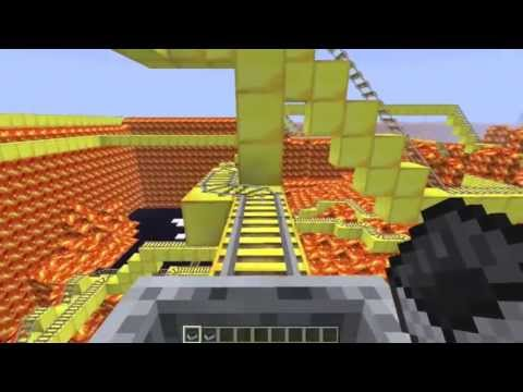 Lava Coaster: Epic Minecraft Rollercoaster