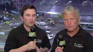 Daniel Blair and Jim Holley take a look at the action from the Main Events!Monster Energy® AMA Supercross, an FIM World Championship, is the premier off-road motorcycle racing circuit in the world, produced inside the world's most elite stadiums. Monster Energy® Supercross tracks are man-made inside the stadium. Some of the sport's marquee names include Ryan Dungey, Ken Roczen, Eli Tomac, Trey Canard, Jason Anderson, Chad Reed, David Millsaps and former supercross greats Jeremy McGrath and Ricky Carmichael. Regarded as the king of action sports, supercross has been described as one of the most physically demanding sports. Visit our official website: http://www.SupercrossLive.comShop for official merch: http://www.supercrosssuperstore.comWatch us on YouTube: http://www.youtube.com/supercrossliveLike us on Facebook: http://www.Facebook.com/SupercrossLive Follow us on Twitter: http://www.Twitter.com/SupercrossLive  Follow us on Instagram: http://instagram.com/SupercrossLive