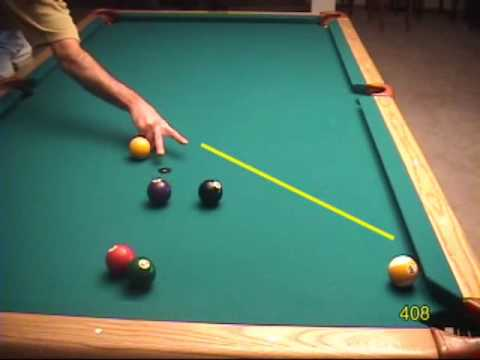 30-degree-rule Natural-angle Pool And Billiards Cue Ball Control Examples, From Veps Iii (nv B.75)