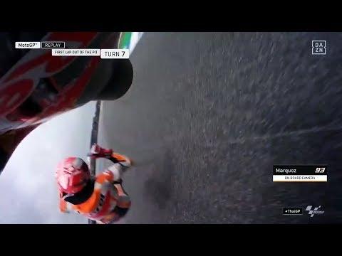 Marc Márquez y su caída en Tailandia  El accidente que preocupó a todos en #MotoGP