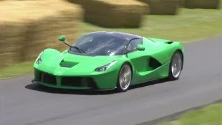 Jay Kay's LaFerrari (Jamiroquai)&Ferrari F12 TRS debut at Goodwood
