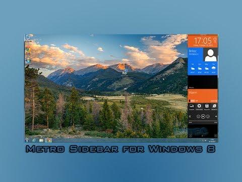 Metro Sidebar for Windows 8