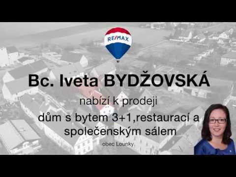 Video Prodej domu s restaurací v obci Lounky