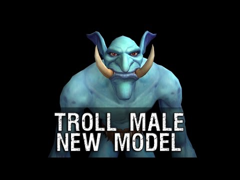 character - Troll Male Character New Model Preview - Warlords of Draenor.