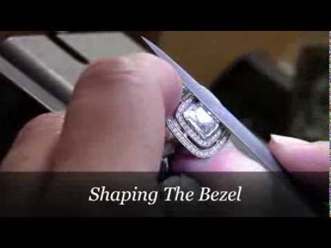 Custom Engagement Rings - Making Megan's Double Halo Cushion Cut Engagement Ring