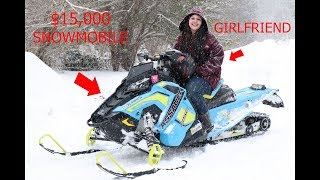9. GIRLFRIEND ALMOST WRECKS  MY $15000 SNOWMOBILE!!!
