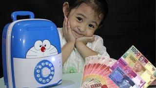 Suitcase Electronic Saving Real Money || Mainan celengan koper DORAEMON