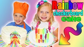 We had so much fun making our first rainbow cake! This video shows the steps we used to make our kid-friendly DIY rainbow checkerboard cake. If you try it,...
