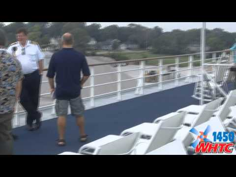 """Images from a tour of the Pearl Seas Cruises' """"Pearl Mist"""" docked in Holland, MI on Aug. 21, 2014; audio interviews with Captain Jeremy Kingston and with Cruise Director Marcy Limpf."""