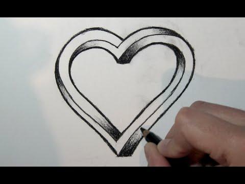Wie zeichnet man ein 3d Herz – Online Zeichnen Lernen