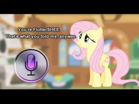Fluttershy And Siri Have A Conversation 🍉