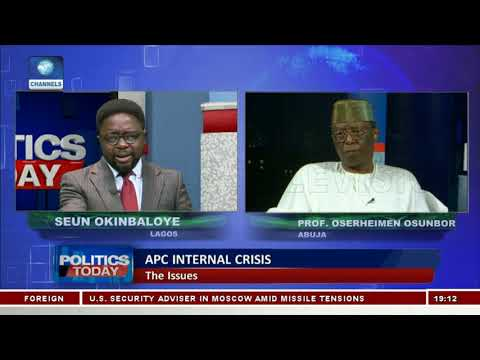 Discussing APC Internal Crisis With Prof Osunbor |Politics Today|