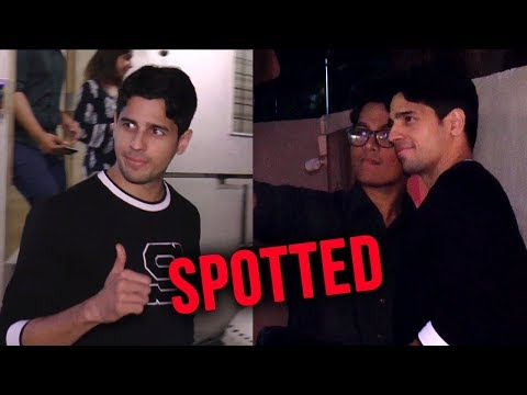Sidharth Malhotra SPOTTED At Dubbing Studio On Ali