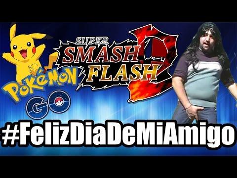 #FelizDiaDeMiAmigo!!! | Super Smash Flash 2 - JugandoConNatalia