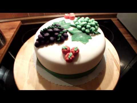 Schoko-Himbeer-Torte mit Fondant