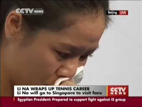 Li - Chinese tennis star Li Na bid an emotional farewell to the sport at a press conference in Beijing on Sunday. The two-time Grand Slam champion has had a monumental impact on the game in China and Asia.