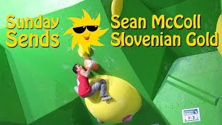 Slovenian Gold for Sean McColl | Sunday Sends by OnBouldering