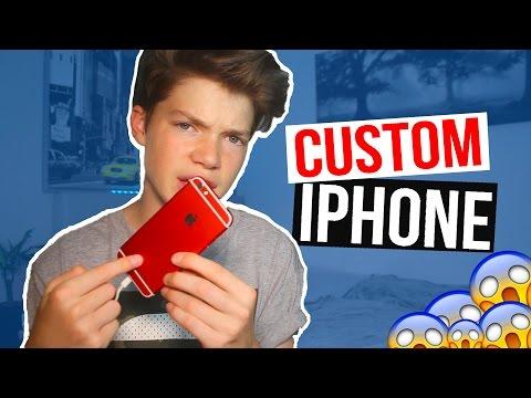 WHAT'S ON MY CUSTOM iPHONE?! (видео)