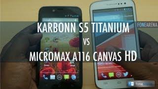 karbonn titanium s5  Karbonn S5 Titanium Vs Micromax A116 Canvas HD
