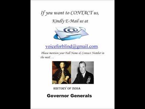 History of India:Governor Generals (By Anita Sharma) (видео)