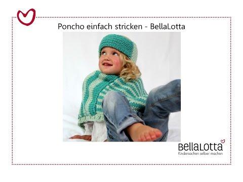 Poncho einfach stricken – mit BellaLotta!