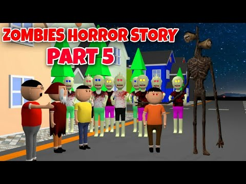 Zombies Horror Story Part 5 | Siren Head Game | Cartoon Movies | Best Animated Movies | 3d Animation