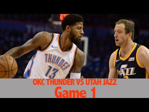 OKC Thunder Vs Utah Jazz Game 1 (NBA PLAYOFFS 2018 RD1) REACTION FULL HIGHLIGHT