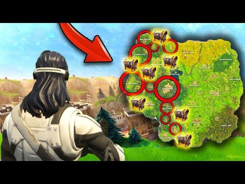 NEW MAP UPDATE + LEGENDARY LOOT LOCATIONS! (Fortnite Battle Royale) (видео)