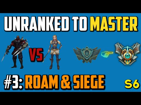 ZED MID - Unranked to Master - Episode 3: Roaming & Siege
