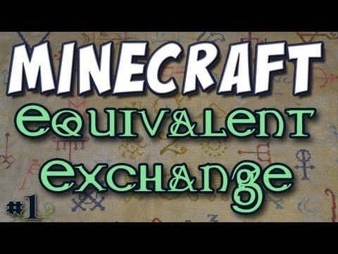 Minecraft - Mod Spotlight - Equivalent Exchange Part 1 (512 Cobblestone = 1 Diamond) Video