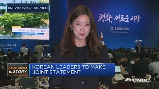 North and South Korean leaders meet in historic summit | Squawk Box Europe