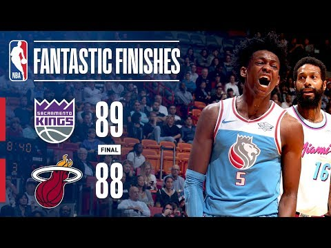Video: The Fantastic Finish Between the Kings and the Heat in Miami | January 25, 2018