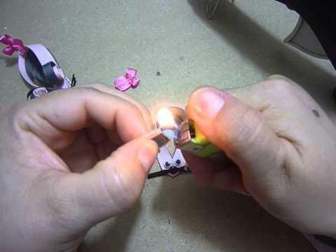 clip de ratoncita para el cabello, Manualidades en cinta delgada