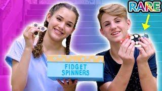 RARE Fidget Spinner Surprise Unboxing + Tricks!  (MattyBRaps vs Gracie)