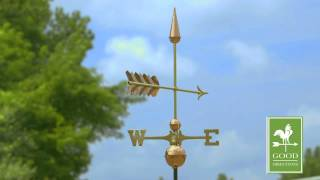 Arrow Weathervane - Polished Copper - Good Directions