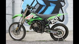 4. 2005 Kawasaki KX125 ... lean, mean , green MX race machine!
