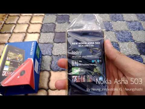 Unbox and short review Nokia asha 503 /// แกะกล่องและรีวิวเล็กน้อย Nokia Asha 503 รองรับ 3G