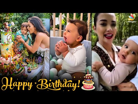 CUTE VIDEO: Amy Jackson Son Andreas Birthday Party   Theri, Madraspattianam, Shrutika   Tamil News