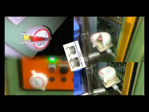 Emergency push button-Mushroom Lockout--from KRM INDIA-+91 9810291381.flv
