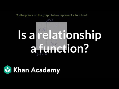 Testing If A Relationship Is A Function Video Khan Academy