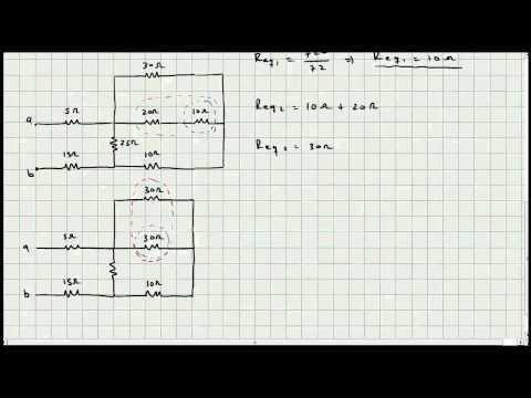 Ejercicio Resistencia Equivalente - Circuitos Eléctricos - Mi Profesor de Fisica - Video 034